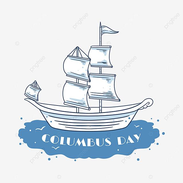 line columbus day ocean