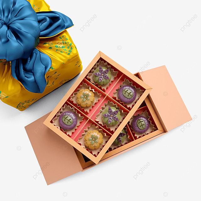 chuseok korean thanksgiving day 3d three dimensional korean autumn eve festival gift box