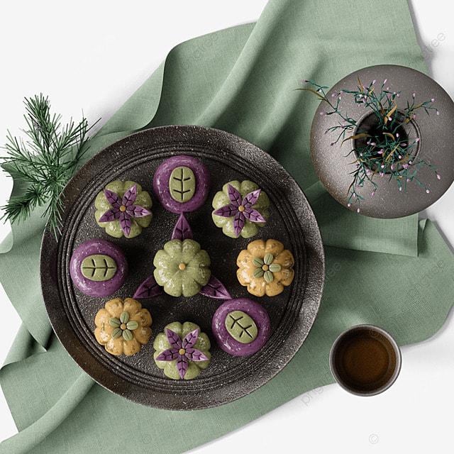 chuseok korean thanksgiving day 3d three dimensional korean traditional dessert