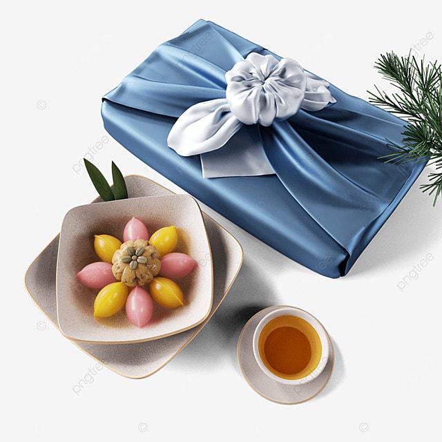 chuseok korean thanksgiving day blue korean autumn eve gift box