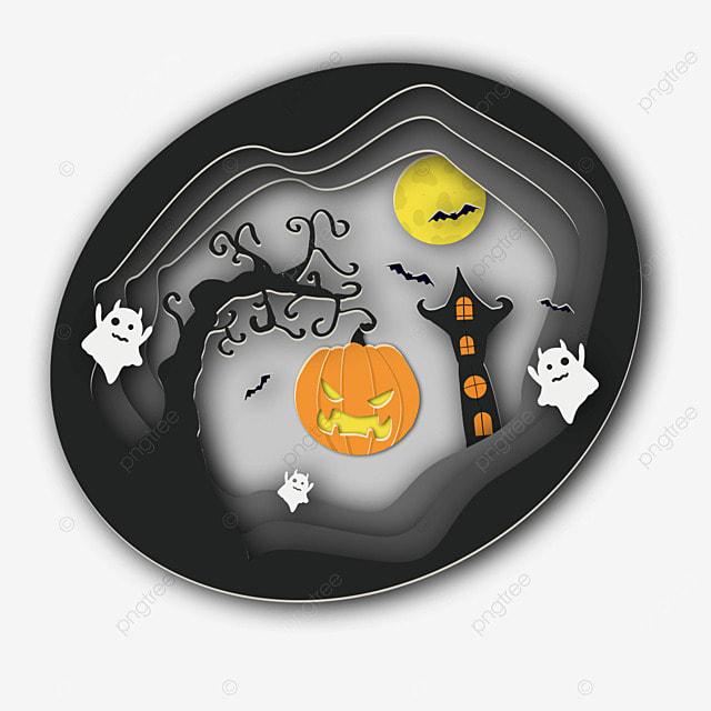 halloween bat house pumpkin moon ghost
