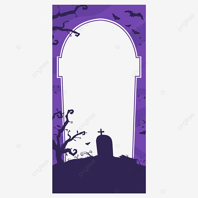 halloween instagram story cemetery border