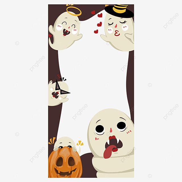 halloween instagram story ghost border