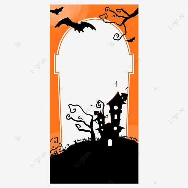 halloween instagram story orange border