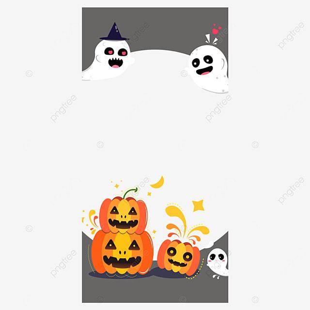 halloween instagram story pumpkin border