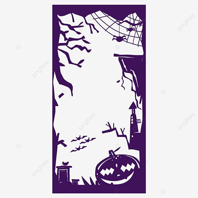 halloween instagram story silhouette border