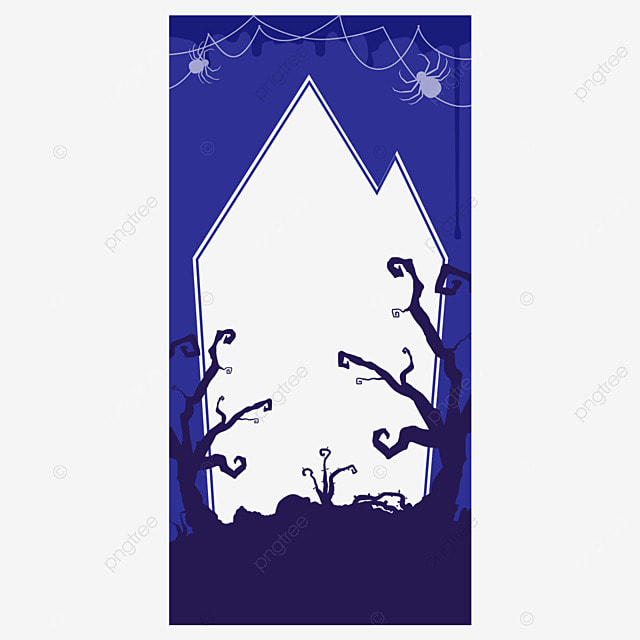halloween instagram story woods silhouette border