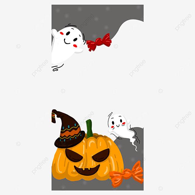 halloween pumpkin instagram story border