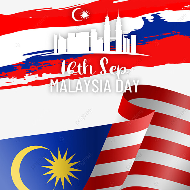 malaysia day city silhouette flag poster