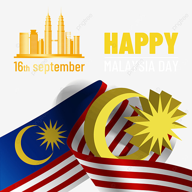 malaysia day golden architecture three dimensional design flag poster
