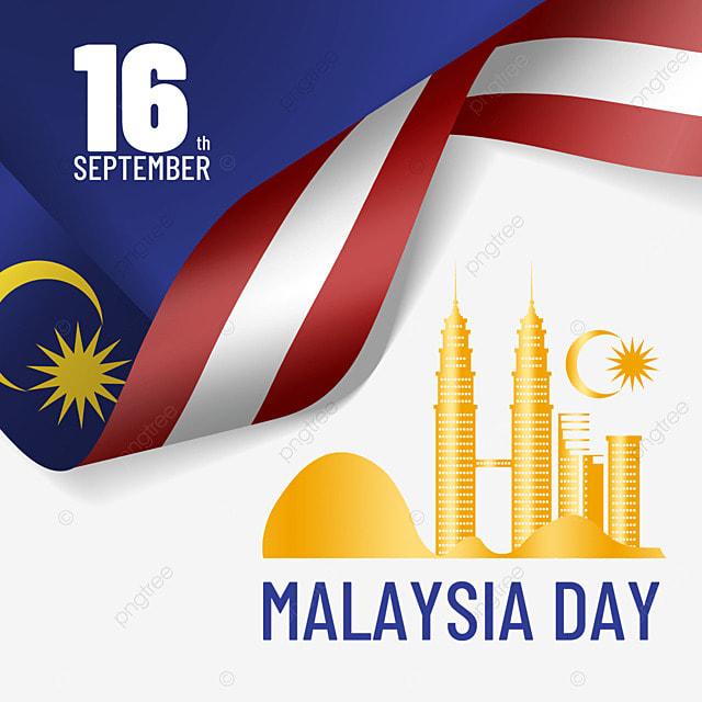 malaysia day golden landmark building illustration design