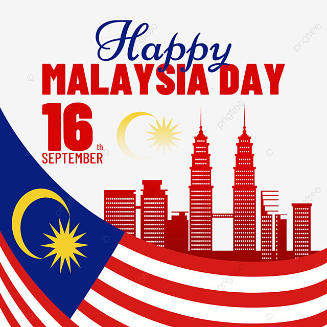 malaysia day poster curved flag design illustration