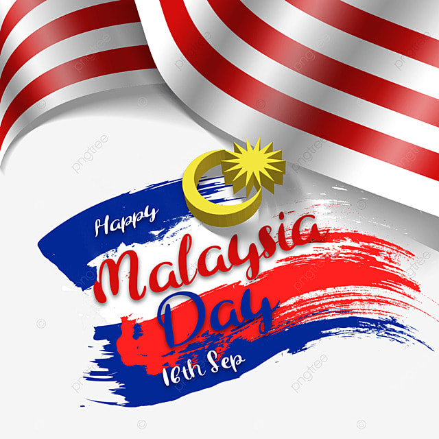 malaysia day poster disguised flag brush design illustration