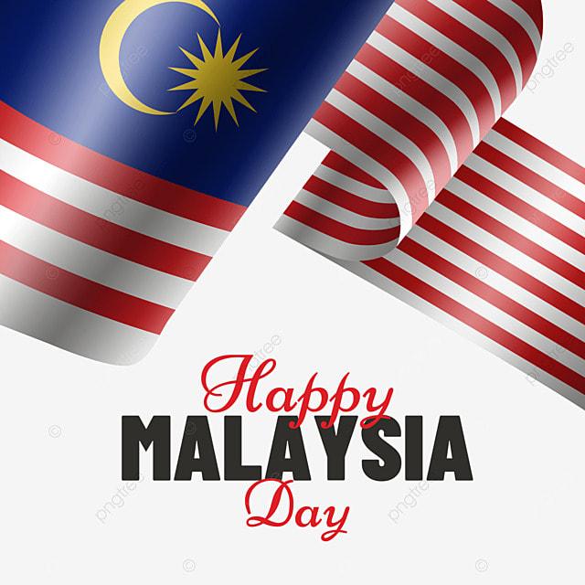 malaysia day wavy flag creative illustration