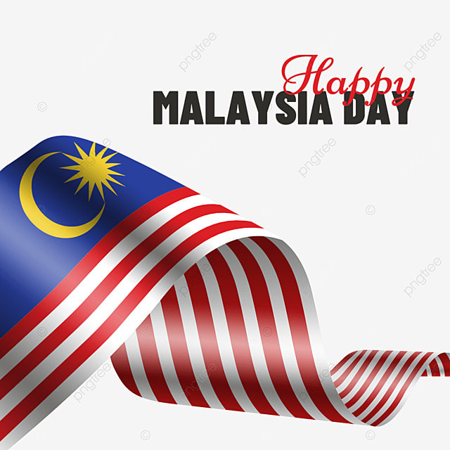 malaysia day wavy flag poster
