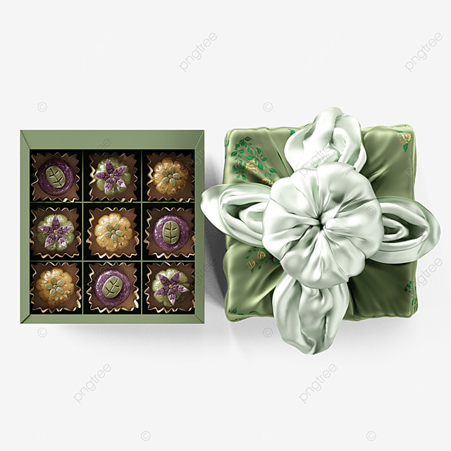 chuseok korean thanksgiving day three dimensional green snack gift box