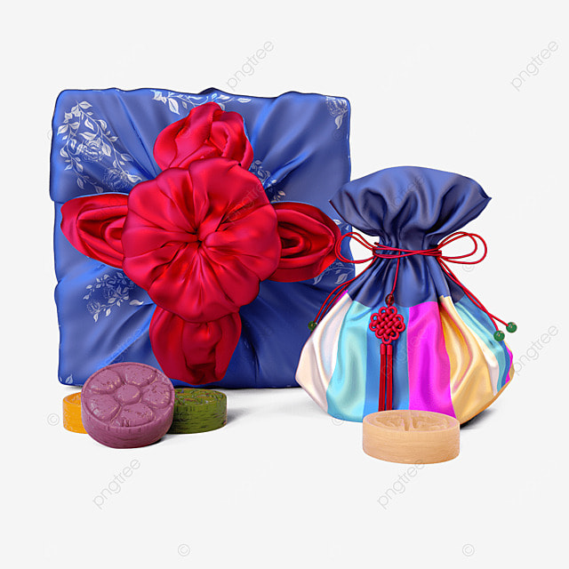 chuseok korean thanksgiving day three dimensional red and blue korean autumn eve gift box