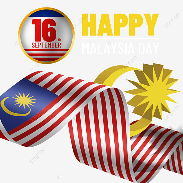 wavy flag malaysia day three dimensional poster design