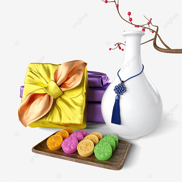 chuseok korean thanksgiving day yellow korean traditional folk gift box