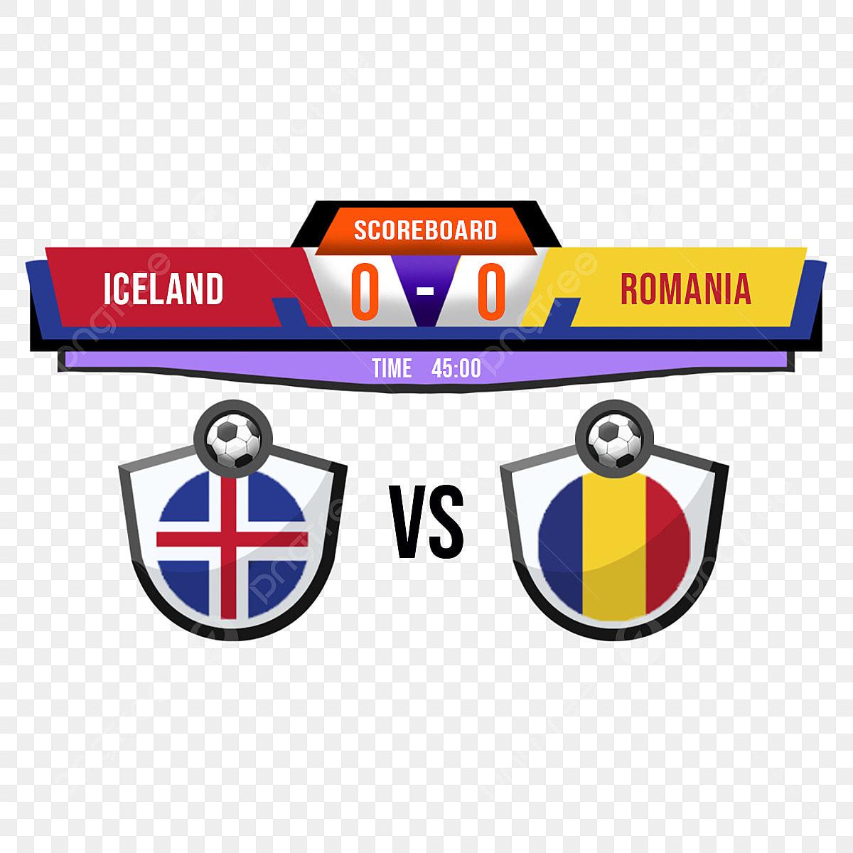 Uefa Euro 2020 Islanda Vs Romania Tabellone Segnapunti Della Partita Di  Calcio Design Della Trasmissione, Torneo, Campionato, Quadro Di Valutazione  File PNG e PSD per download gratuito