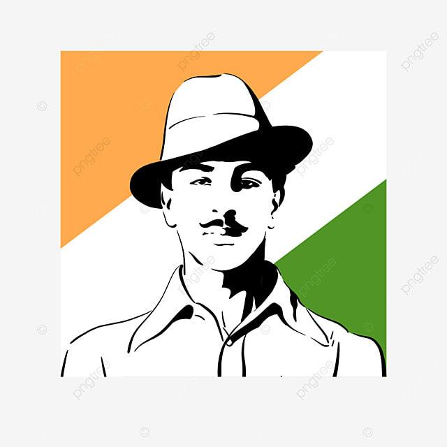 black simple india bhagat singh birthday