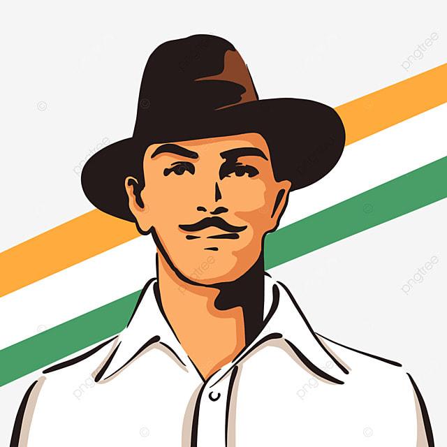 cartoon style bhagat singh birthday