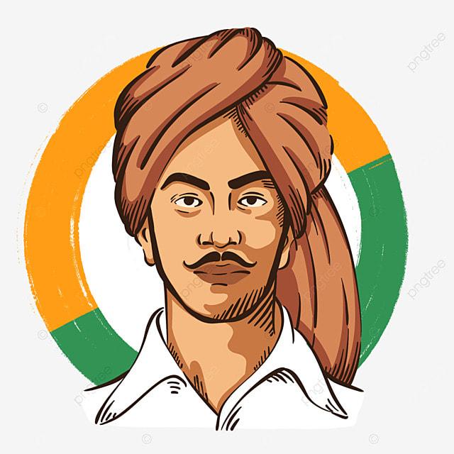 color simple india bhagat singh birthday