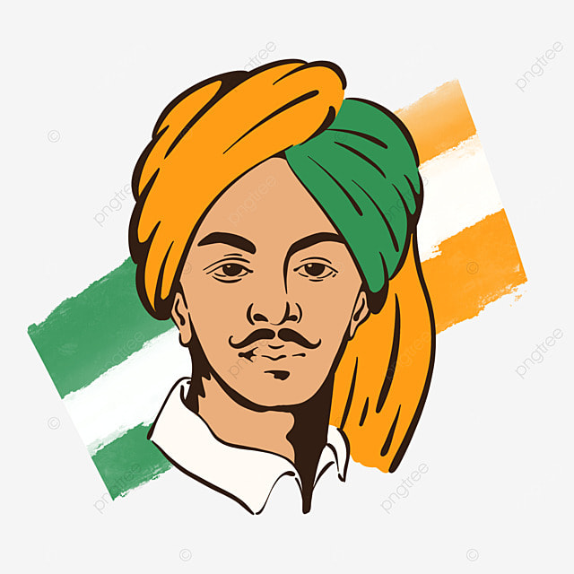 simple color bhagat singh birthday