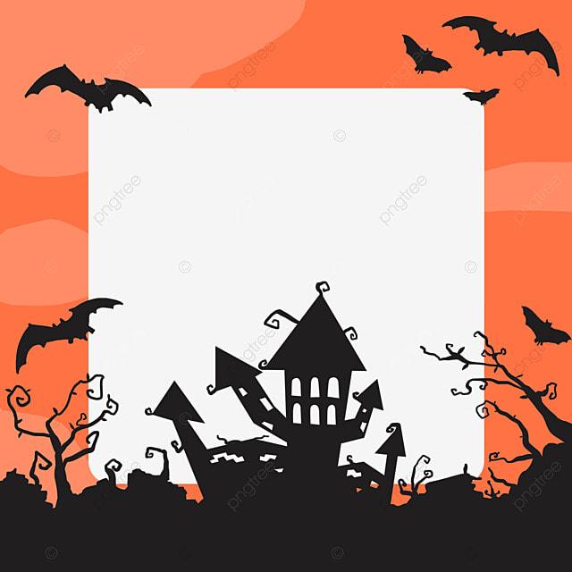 halloween building facebook avatar border