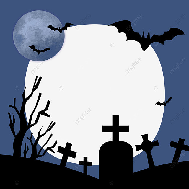 halloween facebook avatar blue night border