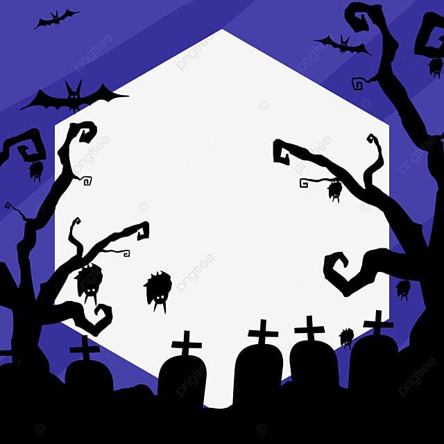 halloween facebook avatar blue wild border