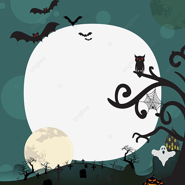 halloween facebook avatar green border
