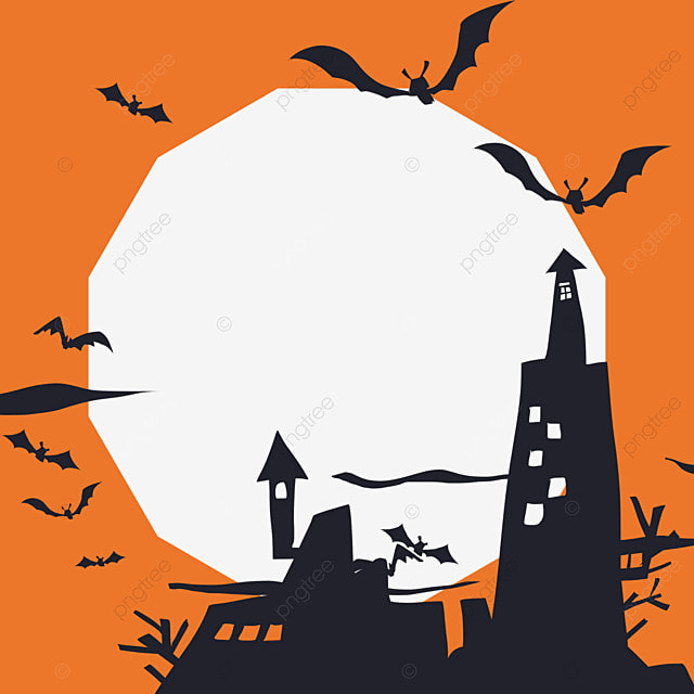 halloween facebook avatar orange border