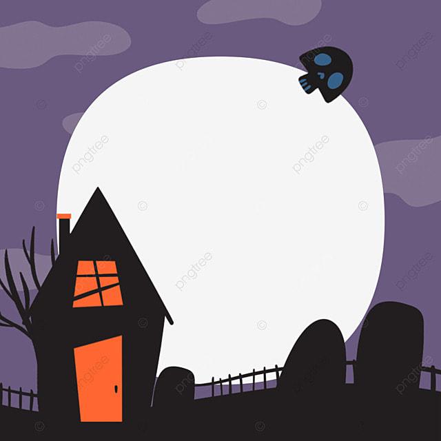 halloween facebook avatar purple border