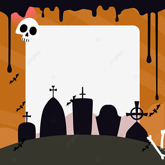 halloween facebook avatar yellow border