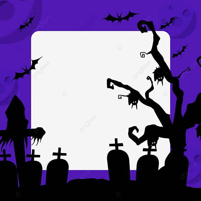 halloween graveyard facebook avatar border