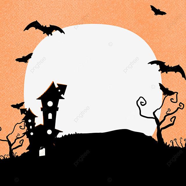 halloween house facebook avatar border