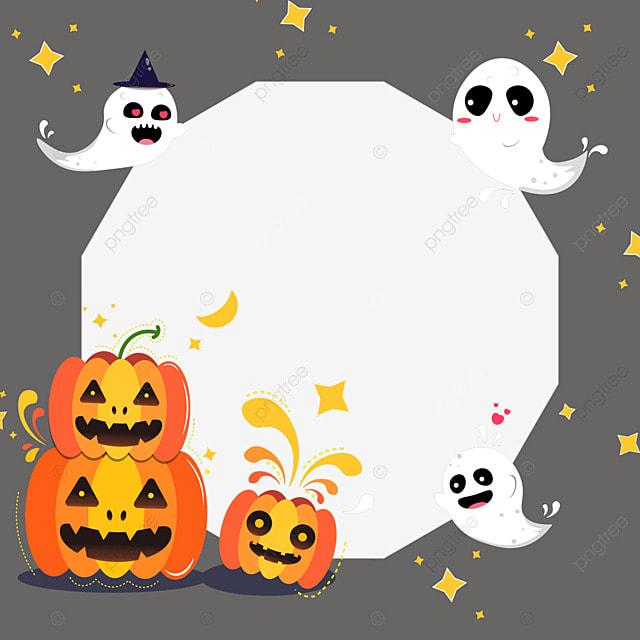 halloween pumpkin facebook avatar border
