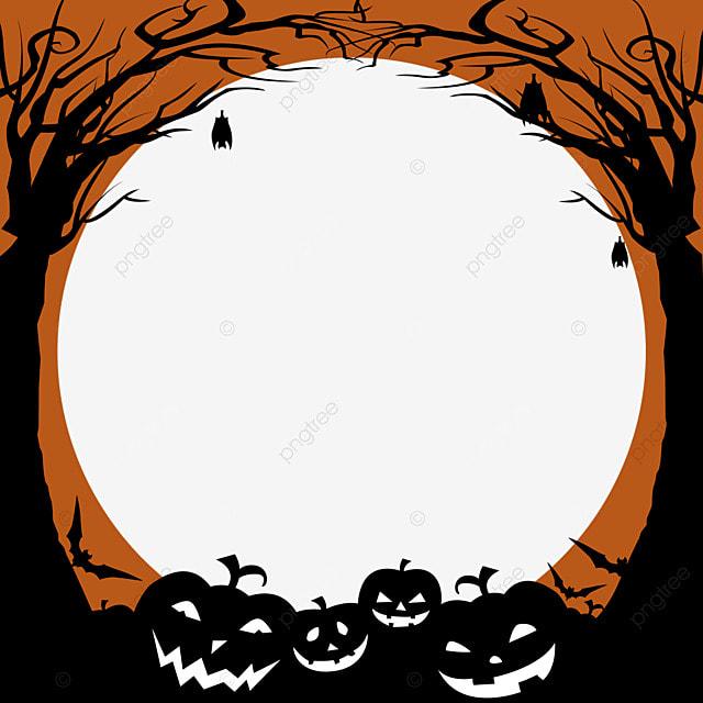 halloween woods facebook avatar border