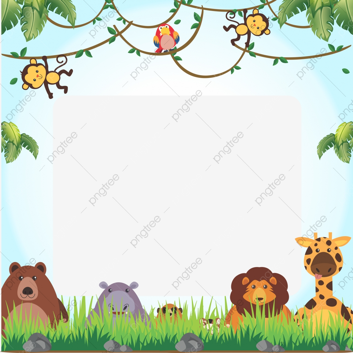 Safari Frame Safari Animal Frame Png Transparent Image And Clipart For Free Download