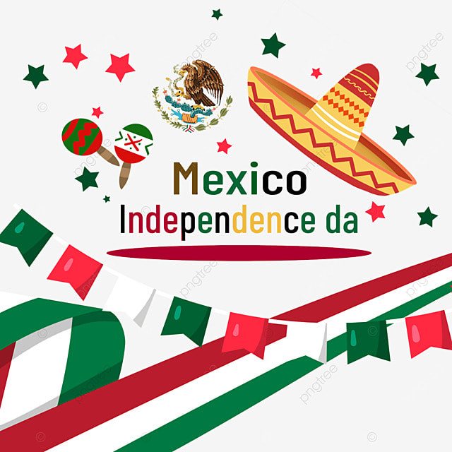 color flag stars mexico independence day