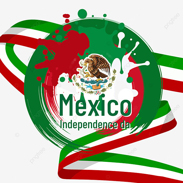 color paint sputtering flag mexico independence day