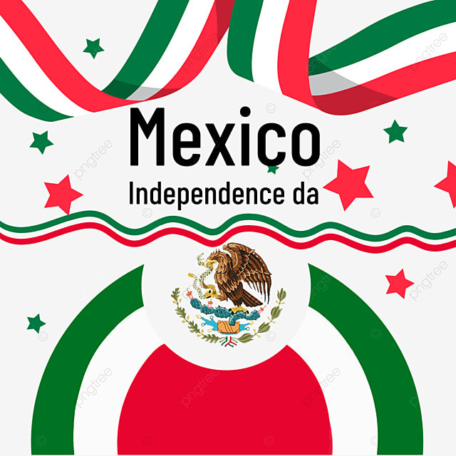 color ribbon banner mexico independence day