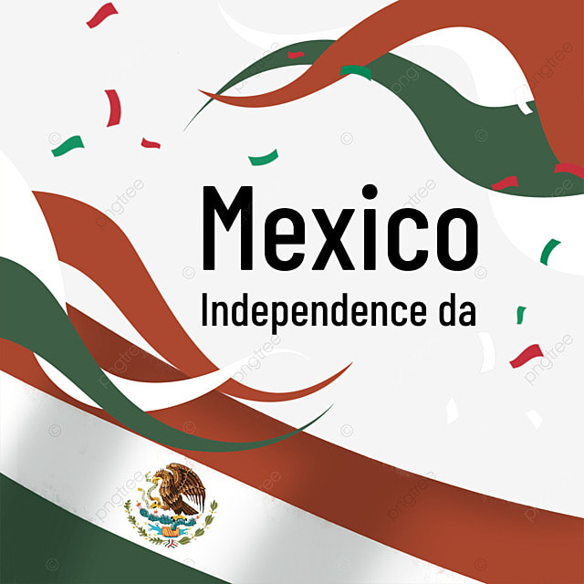 color ribbon flag mexico independence day