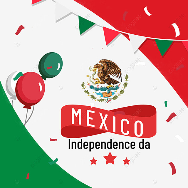colorful balloons bunting mexico independence day