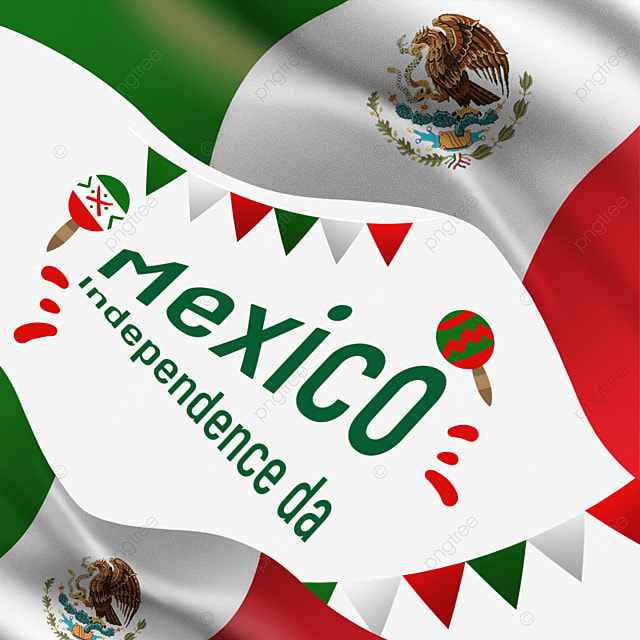 colorful cartoon flag mexico independence day