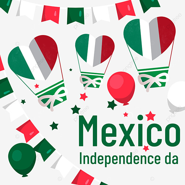 colorful flag balloons mexico independence day