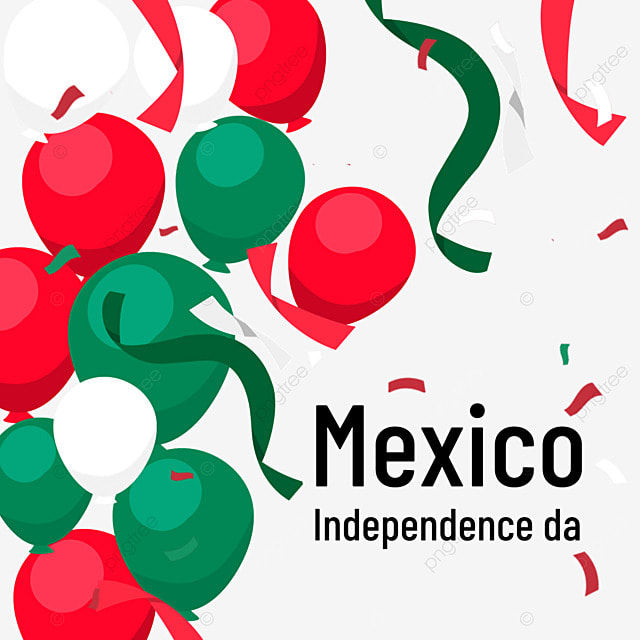 mexico independence day with colorful balloons