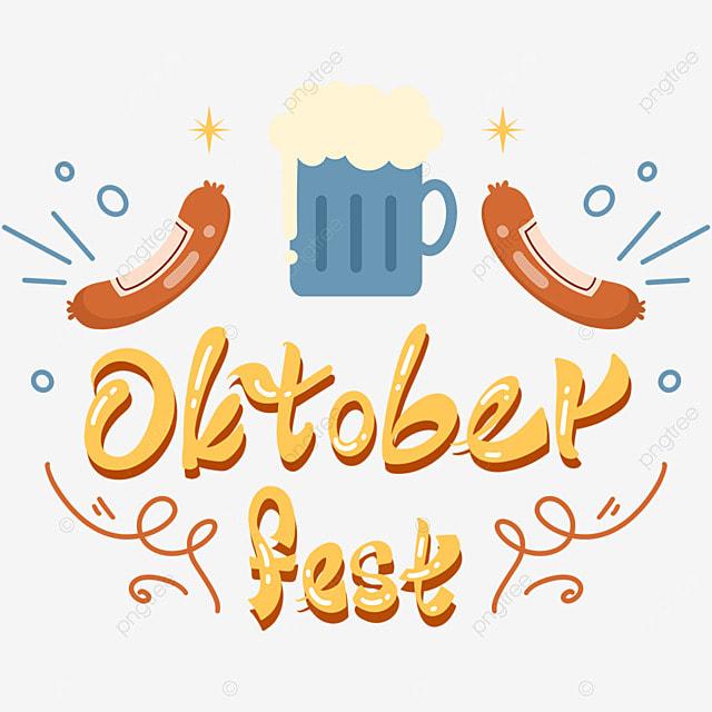 oktoberfest cartoon sausage