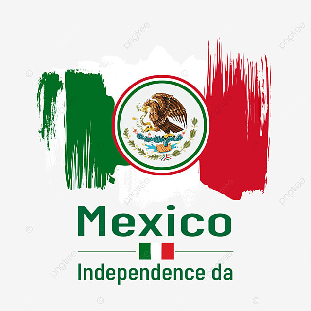watercolor brush banner mexico independence day